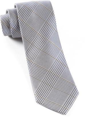 Tie Bar Glen H. Plaid Grey Tie