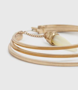 AllSaints Lula Gold-Tone Mother Of Pearl Hoop Earrings