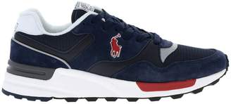 Polo Ralph Lauren Sneakers Trackster Sneakers In Leather And Micro-mesh Suede