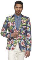 WD.NY Men's Floral Slim-Fit Suit Jacket