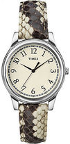 Timex Women's | Black/White Python Patterned Leather Strap | Watch T2P088