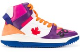 DSQUARED2 colour block high-top sneakers