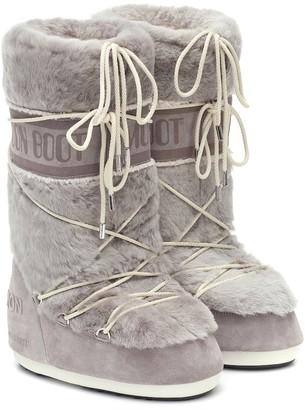 Yves Salomon x Moon Boot shearling snow boots