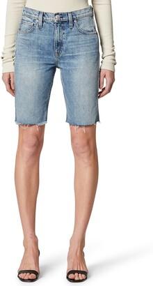 Hudson Freya High Waist Cutoff Denim Biker Shorts