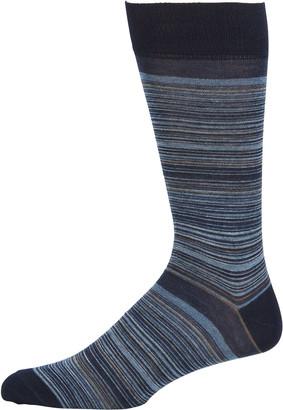 Neiman Marcus Men's Tonal Stripe Wool-Blend Socks