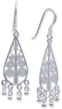Giani Bernini Filigree Teardrop Dangle Drop Earrings in Sterling Silver, Created For Macy's