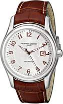 Frederique Constant Men's FC-303RV6B6 Run About Brown Leather Strap Watch