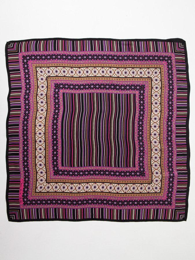 Oscar de la Renta Vintage Patterned Silk Scarf
