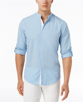 INC International Concepts Men's Seersucker Banded Collar Shirt, Only at Macy's
