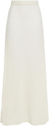Gabriela Hearst Open-knit Cashmere And Silk-blend Maxi Skirt