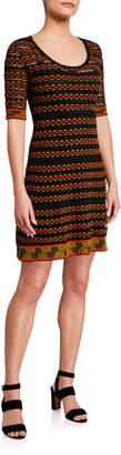 M Missoni Knit Stitched A-Line Dress