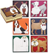 Kim Seybert Set of 6 Pleather Pups Coasters - White
