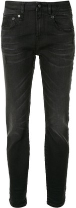R 13 Mid-Rise Tapered-Leg Jeans