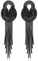Lara Bohinc Women's Black Rhodium Plated Brass Saturn Earrings