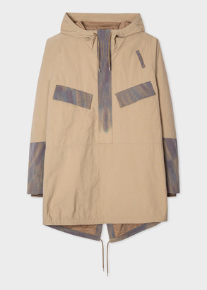 Paul Smith Men's Sand Red Ear Parka With Injection-Dye Trims