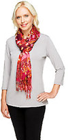 "Isaac Mizrahi Live! 28""x72"" Collage Floral Printed Scarf"