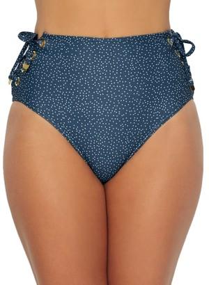 Azura Astral Eyelet High-Waist Bikini Bottom