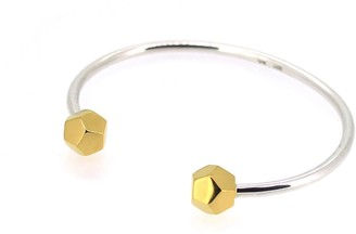 Matthew Calvin Double Dodecahedron Bangle In Gold
