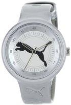 "Puma Women's PU910682014 Slick ""Big Cat"" Metallic Silver Watch"