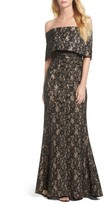 Vince Camuto Women's Vine Camuto Sequin Off The Shoulder Gown