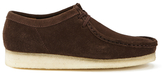 Clarks Originals Wallabee Shoes Dark Brown Suede