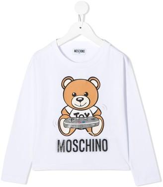MOSCHINO BAMBINO Logo-Print Long Sleeve T-Shirt