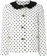 Dolce & Gabbana polka dot brocade jacket - women - Silk/Cotton/Spandex/Elastane/Viscose - 44