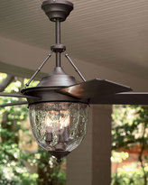 Horchow Dark Aged Bronze Outdoor Ceiling Fan with Lantern