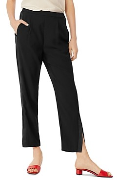 Habitual Ria Tuxedo Stripe Straight-Leg Ankle Pants
