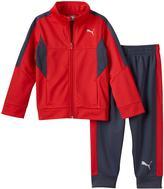 Puma Boys 4-7 Colorblocked Track Jacket & Jogger Pants Set