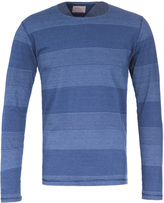 Nudie Jeans Jacquard Mix Long Sleeved Indigo T-shirt