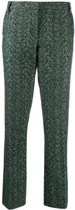 L'Autre Chose Cross-Hatch Textured Trousers
