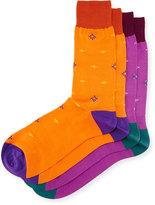 Punto Two-Pair Diamond-Print Socks