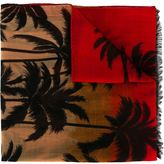 Saint Laurent palm tree intarsia scarf - unisex - Wool - One Size