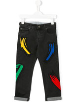 Stella McCartney patch jeans - kids - Cotton/Spandex/Elastane - 12 yrs