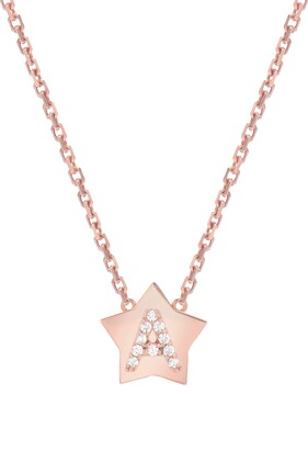 Mini Mini Jewels Star-Framed Diamond Initial Pendant Necklace