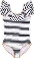 Chloé Striped Bow Back Swimming Costume