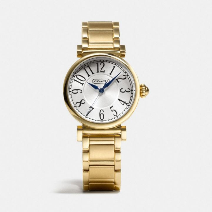 Coach Madison Gold Plated Bracelet Watch