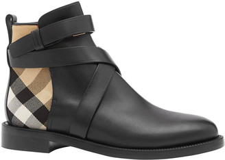 Burberry Pryle Vintage Check Ankle Booties