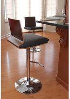 Lumisource Koko Mid-century Modern Walnut Wood Adjustable Barstool