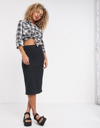 Noisy May manja high waisted bodycon skirt in black