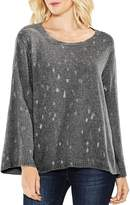 Vince Camuto Bell Sleeve Foil Print Sweater