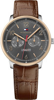 Tommy Hilfiger 1791357 rose-gold and crocodile-embossed leather watch