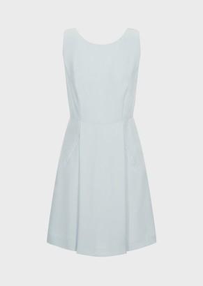 Emporio Armani Flared, Darted Cady Dress