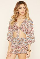Forever 21 FOREVER 21+ Raga Abstract Print Crop Top