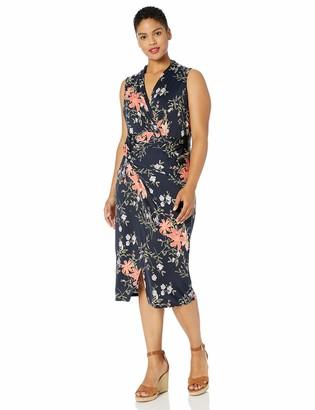 Rachel Roy Women's Plus Size Sleeveless Printed Bret Dress