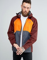 The North Face Sequence Jacket Hooded 3 Colour In Orange/grey