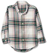 Gap Chalk plaid button-down flannel shirt