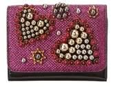 Christian Louboutin Macaron Heart Glitter Mini Wallet.