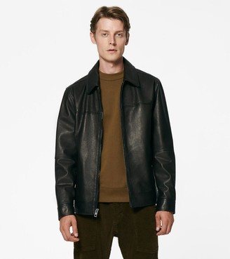 Andrew Marc Rockaway Shirt Collar Leather Jacket